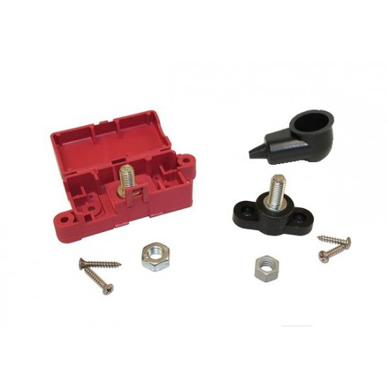 Battery Junction Box Red and Black Stud