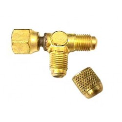 """Fuel Line Tap Schrader Tee 1/4"""" ACCESS VALVE For """"GM"""" Fuel Rail"""