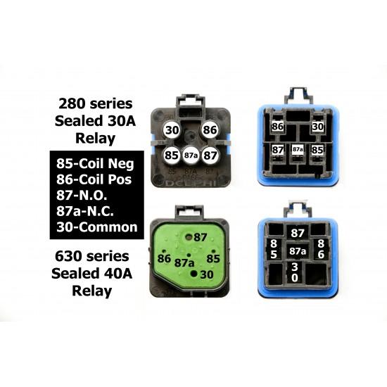 HD Fuel Pump/ Fan Relay Kit 40 AMP